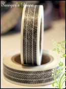 Image of Off-Road Tyre Tread Washi Tape - Japanese Masking Tape - Sampson - 15mm x 15m