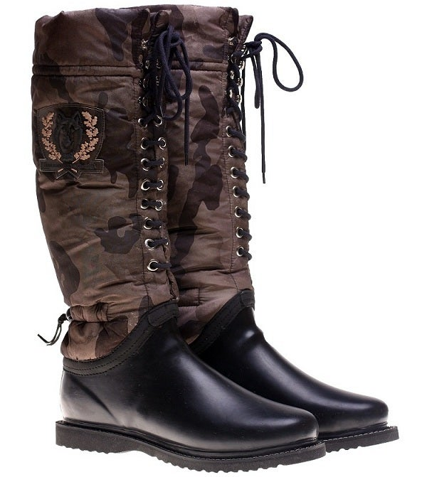 Image of Ilse Jacobsen Rubber + Camouflage Boots 