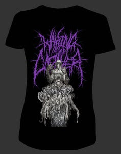 "Image of Waking The Cadaver ""Bodystack"" Girls T shirt Purple"