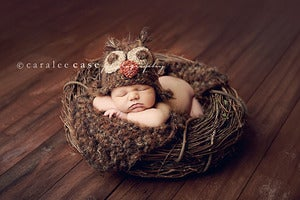 Image of Fuzzy Brown Owl Hat and Blanket Combo  *Buy the set and save!*