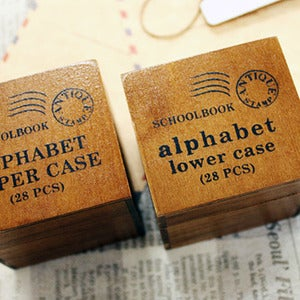 Image of Vintage Alphabet Stamp Sets