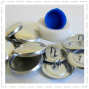 Image of Cover your buttons with these kits - Metal looped back in a range of sizes