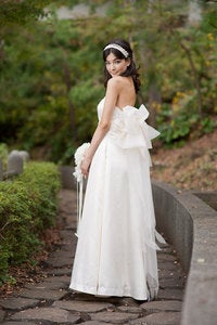 Image of Balloon Back Bow Wedding Dress -The Akina Gown