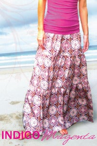 Image of Ladies Kaleidoscope Tiered Maxi Skirt