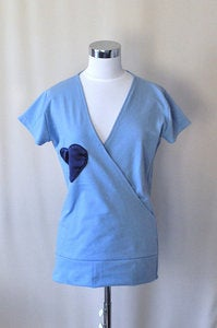 Image of Sky Blue Sweatshirt Lounge Wear with Big Heart