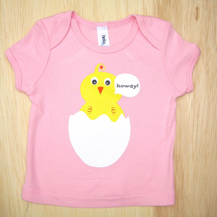 Image of Howdy Chick Pink Infant &amp; Baby tee