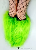 Image of Glitter fluffies uv lime 