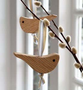 Image of Pair of Oak love birds