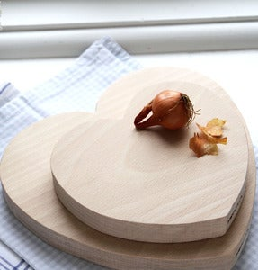 Image of Pair of Heart Chopping Boards - Beech