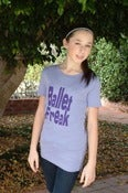 Image of Ballet Freak Block Print T-Shirt Purple