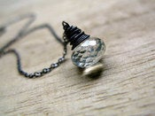 Image of Teal Quartz Necklace in Oxidized Sterling Silver