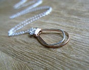 Image of Two Tone Keepsake Necklace in Sterling Silver