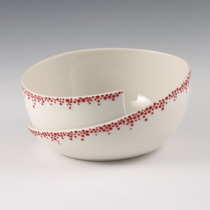 Image of Whirl Bowl with Red Pebbles