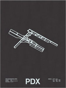Image of PDX: Portland International Airport Screenprint