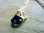 Image of London Blue Topaz & Anchor Charm Necklace