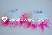 Image of Fluffy two tone wrist cuffs 