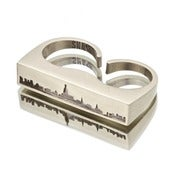 DOUBLE FINGER NYC SKYLINE CUT-OUT RING