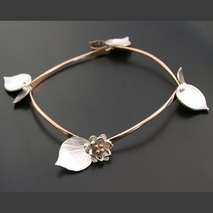 Image of Lotus Bamboo Bracelet- Rose Gold Filled Bars