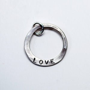 Image of Hammered Circle Charm