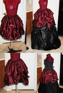 Image of Darling Belle Short Victorian Skirt or Overskirt