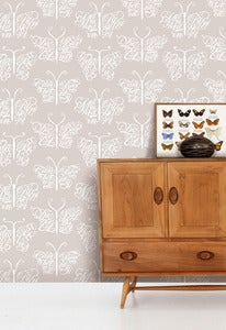 Image of Camberwell Beauty Wallpaper - Stone