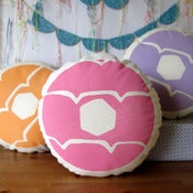 Image of PINK Iced Ring Screen Printed Cushion