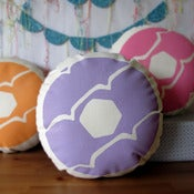Image of LILAC Iced Ring Screen Printed Cushion