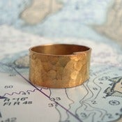 Image of Hammered Ring in Gold