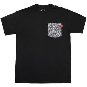 Image of Elephant Print Pocket Tee