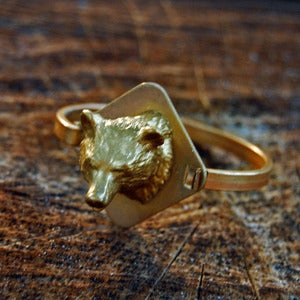 Image of Gold Bear Bracelet
