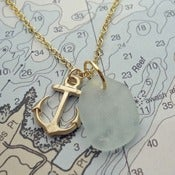 Image of Anchor Sea Glass Pendant
