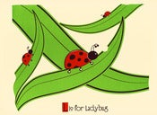 Image of L is for Ladybug Alphabet Print
