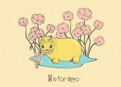 Image of H is for Hippo Alphabet Print