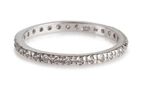 Image of Kara Ackerman <i> Talulah  <i/> Eternity Stacking Ring in White