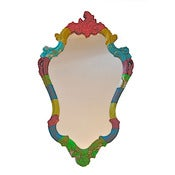 Image of Heidi Awford: Rocco V Decoupaged Mirror