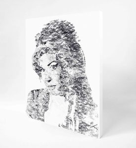 Image of AMY WINEHOUSE TYPOGRAPHY CANVAS WRAP 16 x 24