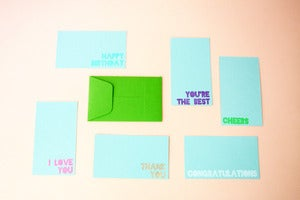 Image of Gift card set of five