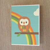 Image of Owl + Rainbow