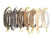 Image of Anne Leather Bracelet - Nuetrals