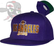 Image of Los Angeles Lakers All Purple Snapback Hat Cap