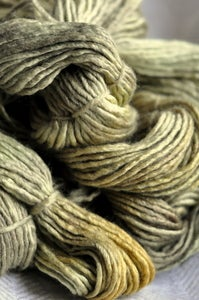 Image of sage nomads. gliding yarn. merino/silk worsted weight.