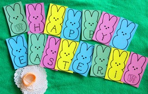Image of Oh Strumpets Happy Easter Peep Garland DIY Kit