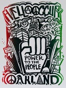 Image of Hella Occupy &quot;Power to the People&quot; Silk Screened Poster