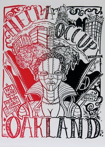 "Image of Hella Occupy ""2AM"" Silk Screened Poster"