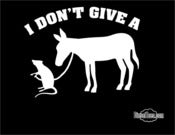 Image of I Don't Give A Rats Ass Funny T Shirt