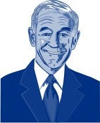 Image of Ron Paul Portrait Scalable Vector Graphic