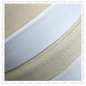 Image of Natural & White Twill Tape (light & heavier weight)