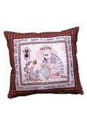 Image of Gardening Bear Pillow DL pattern