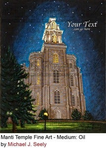 Image of Manti Utah LDS Mormon Temple Art Painting by Michael Seely