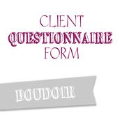 Image of Boudoir Questionnaire Form